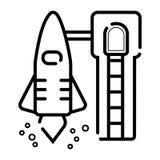 Liftoff vector icon stock illustration