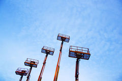 Lifts and blue sky Stock Images