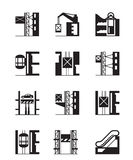 Lifts and elevators icon set Stock Photography