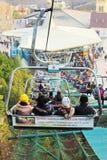 Lifts gondola Parks Everland, Korea. Royalty Free Stock Photo