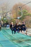 Lifts gondola Parks Everland, Korea. Stock Photography