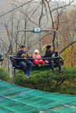 Lifts gondola Parks Everland, Korea. Royalty Free Stock Image