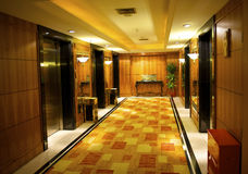 Lifts in hotel Stock Photos