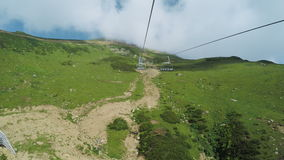 Lifts in mountains in summer stock video