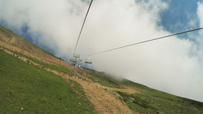 Lifts in mountains in summer stock video footage