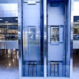 Lifts in office. Move lifts in office center Royalty Free Stock Photos
