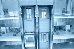 Lifts in office building royalty free stock image