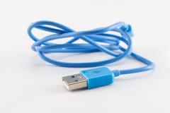 Ligação de dados azul de USB Foto de Stock Royalty Free