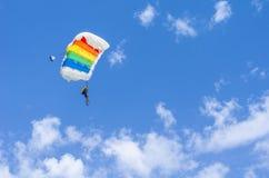 Ligação em ponte de paraquedas fotos de stock