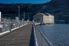 Ligações da ponte da represa sobre o vagabundo da serpente de Idaho fotos de stock royalty free