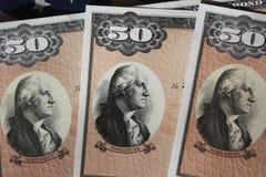 Ligações de economias de Estados Unidos Fotografia de Stock Royalty Free