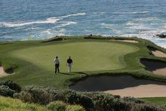 Ligações de golfe de Pebble Beach, calif Foto de Stock Royalty Free