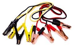 Ligações em ponte da bateria de carro Imagens de Stock