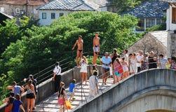 Ligações em ponte em Stari mais Foto de Stock Royalty Free