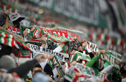Liga adicional Legia Varsovia Ruch Chorzów de T-Mobile imagen de archivo