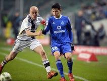 Liga adicional Legia Varsovia Ruch Chorzów de T-Mobile imagenes de archivo