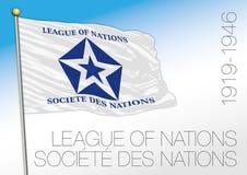 Liga av den historiska flaggan för nationer, 1919 - 1946 royaltyfri illustrationer