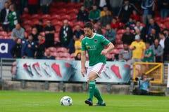 Liga av Irland den f?rsta uppdelningsmatchen mellan Cork City FC vs Derry City FC fotografering för bildbyråer