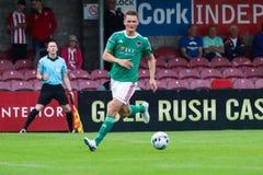 Liga av Irland den f?rsta uppdelningsmatchen mellan Cork City FC vs Derry City FC royaltyfri fotografi