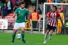 Liga av Irland den f?rsta uppdelningsmatchen mellan Cork City FC vs Derry City FC royaltyfria bilder
