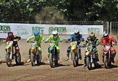 Liga catalão do motocross imagens de stock royalty free