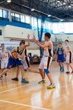 Liga de baloncesto europea de la juventud Foto de archivo libre de regalías