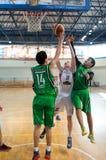 Liga de baloncesto europea de la juventud Imagen de archivo libre de regalías