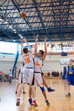 Liga de basquetebol europeia da juventude Fotografia de Stock Royalty Free