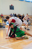 Liga de basquetebol europeia da juventude Fotos de Stock
