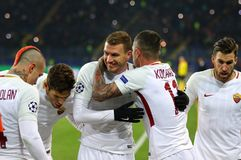 Liga de campeões de UEFA: Shakhtar Donetsk v Roma fotos de stock royalty free