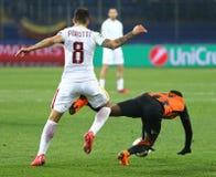 Liga de campeões de UEFA: Shakhtar Donetsk v Roma fotos de stock