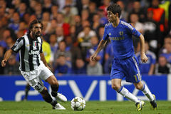 Liga de campeones de UEFA del fútbol Chelsea v Juventus imágenes de archivo libres de regalías