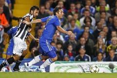 Liga de campeones de UEFA del fútbol Chelsea v Juventus imagen de archivo libre de regalías