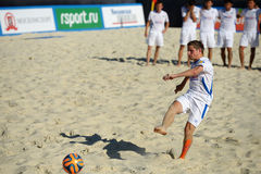 Liga de futebol Moscou da praia do Euro 2014 Imagens de Stock Royalty Free