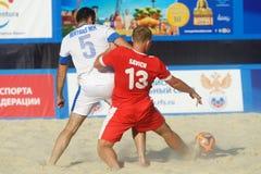 Liga de futebol Moscou da praia do Euro 2014 Imagem de Stock Royalty Free