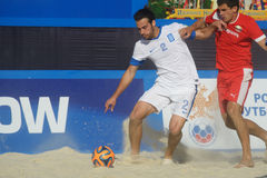 Liga de futebol Moscou da praia do Euro 2014 Fotografia de Stock Royalty Free