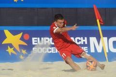 Liga de futebol Moscou da praia do Euro 2014 Fotos de Stock Royalty Free