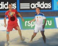 Liga de futebol Moscou da praia do Euro 2014 Imagem de Stock