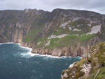 Liga de Slieve, penhascos de Bunglass, Ireland Foto de Stock