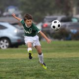 Liga del fútbol de Parke del chalet Fotos de archivo libres de regalías