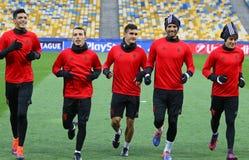 Liga för UEFA-mästare Dynamo Kiev V Benfica: pre-match utbildning fotografering för bildbyråer