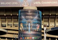 LIGA FÖR UEFA-MÄSTARE MILAN Royaltyfri Foto