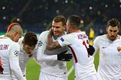 Liga för UEFA-mästare: Shakhtar Donetsk V Roma royaltyfria foton