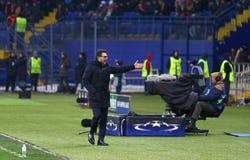 Liga för UEFA-mästare: Shakhtar Donetsk V Roma royaltyfri foto