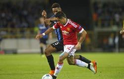 Liga FC Brujas - Manchester United del campeón de Chicharito Imagen de archivo libre de regalías
