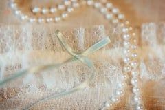 Liga hermosa de la boda Fotos de archivo libres de regalías