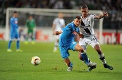 Liga Legia Varsovia SSC Napoli del Europa de la UEFA Imágenes de archivo libres de regalías