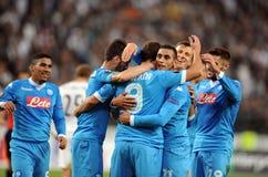 Liga Legia Varsovia SSC Napoli del Europa de la UEFA Foto de archivo