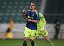 Liga Legia Warschau Ajax Amsterdam UEFA Eurppa lizenzfreie stockfotografie