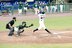 Liga menor Jose Pujols Lakewood Blueclaws del juego de béisbol Imagen de archivo
